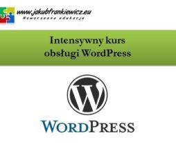 Intensywny kurs obsługi WordPress