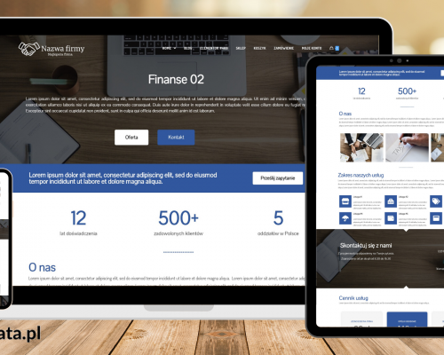 Finanse02 – szablon do wtyczki Elementor