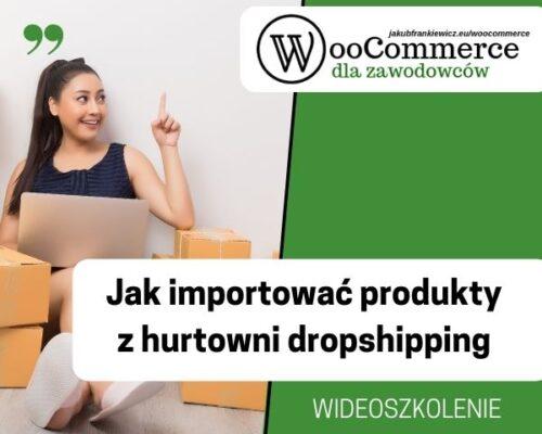 Jak importować produkty z hurtowni dropshippingowej – wideoszkolenie