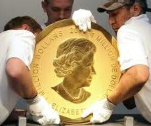 Stukilogramowa złota moneta sprzedana na aukcji w Austrii
