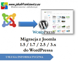 Migracja z Joomla 1.5 / 1.7 / 2.5 / 3.1 do WordPress