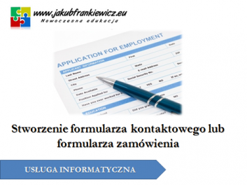 uslugaformularz - Jakub Frankiewicz - Nowoczesna Edukacja