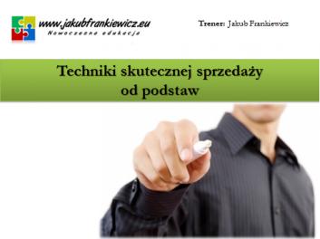 techniki sprzedazy - Jakub Frankiewicz - Nowoczesna Edukacja