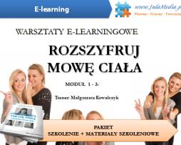 Mowa ciała – szkolenie + materiały szkoleniowe + zaświadczenie (E-learning)