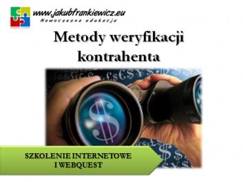 jf weryfikacja kontrahenta1 - Jakub Frankiewicz - Nowoczesna Edukacja