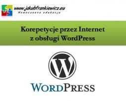Korepetycje przez Internet z obsługi WordPress