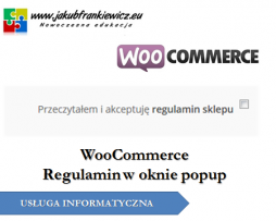 WooCommerce: Regulamin w oknie popup