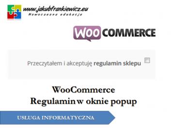 woocommerce regulamin - Jakub Frankiewicz - Nowoczesna Edukacja