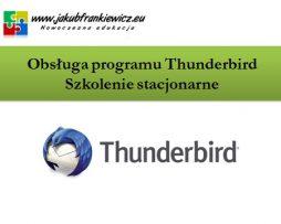 Obsługa programu Thunderbird – Szkolenie stacjonarne