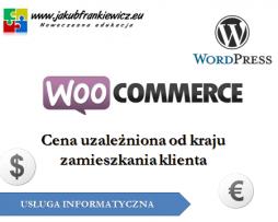 WooCommerce: Cena uzależniona od kraju zamieszkania klienta