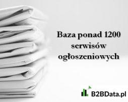 Baza ponad 1200 serwisów ogłoszeniowych w Polsce