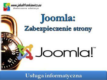 joomla zabezpieczenia - Jakub Frankiewicz - Nowoczesna Edukacja