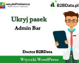 Doctor B2BData – Ukryj Admin Bar
