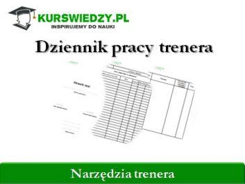 dziennik pracy trenera kurswiedzy - Jakub Frankiewicz - Nowoczesna Edukacja