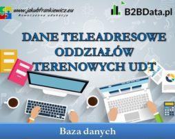 Dane teleadresowe Oddziałów terenowych UDT