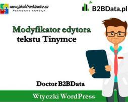 Doctor B2BData – Modyfikator edytora Tinymce