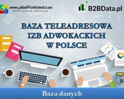 Dane teleadresowe izb adwokackich w Polsce
