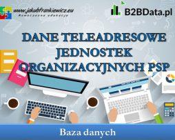 Dane teleadresowe jednostek organizacyjnych PSP