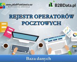 Rejestr operatorów pocztowych