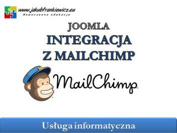 joomla mailchimp - Jakub Frankiewicz - Nowoczesna Edukacja