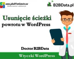 Doctor B2BData – Usunięcie ścieżki powrotu w WordPress
