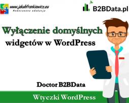 Doctor B2BData – Wyłączenie domyślnych widgetów w WordPress