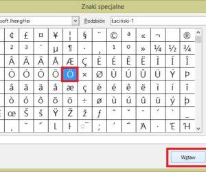 LibreOffice: Wstawianie do dokumentu znaków specjalnych