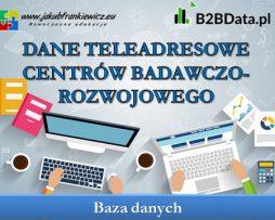 Dane teleadresowe centrów badawczo-rozwojowego