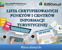 Lista certyfikowanych punktów i centrów informacji turystycznej