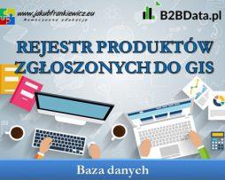 Rejestr produktów zgłoszonych do GIS