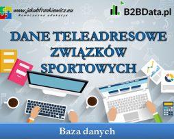 Dane teleadresowe związków sportowych