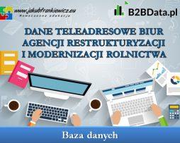 Dane teleadresowe biur Agencji Restrukturyzacji i Modernizacji Rolnictwa