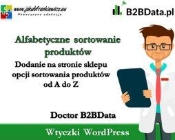Doctor B2BData – Włączenie sortowania alfabetycznego