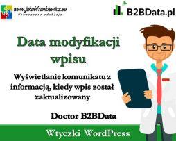Doctor B2BData – Data modyfikacji wpisu
