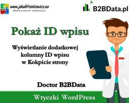 Doctor B2BData – Pokaż ID wpisu