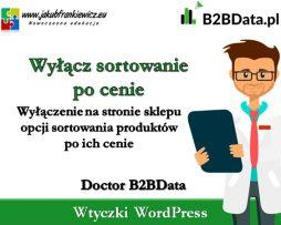 Doctor B2BData – Wyłączenie sortowania po cenie